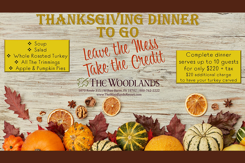 Woodlands - Thanksgiving Dinner To Go 2020